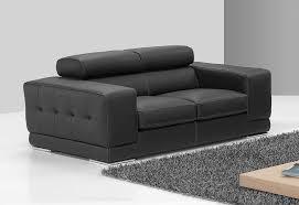 canapé cuir noir 2 places meuble canapé italien en cuir noir sofamobili