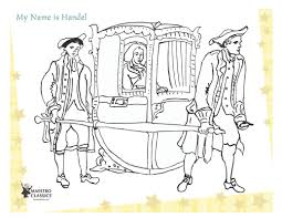 free george frideric handel printable coloring page from the story