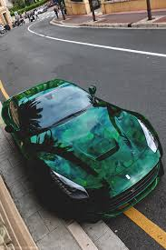 the koenigsegg agera r ferrari green and leaves