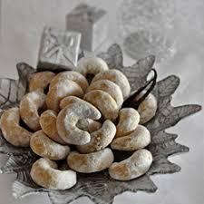 vanilla crescents are traditional croatian christmas cookies with