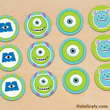 monsters inc cake toppers free printable monsters inc cupcake toppers
