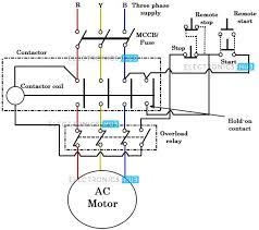 wiring diagram 3 phase dol starter circuit diagram 361217 wiring