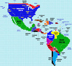 Population World Map by Here U0027s What The World Would Look Like If Countries Were As Big As