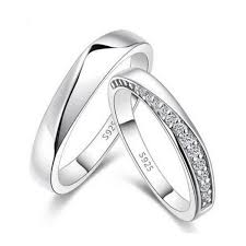 Engraved Necklaces For Couples High Quality Cubic Zirconia Silver Matching Rings Custom Engraving