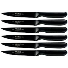 prime by chicago cutlery black oxide 6 pc steak knife set
