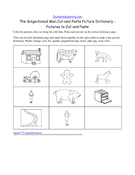 the gingerbread man cut and paste picture dictionary a short