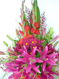 flowers arrangement kueh flowers mx28 pink lilies flower arrangement