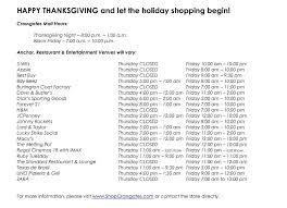 Is Sporting Goods Open On Thanksgiving Happy Thanksgiving Crossgates Mall