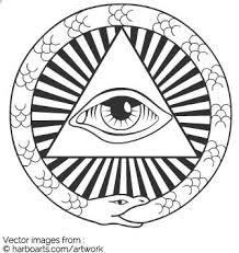 illuminati all seeing eye vector graphic