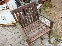 Replace Wood Slats On Outdoor Bench Replacing A Missing Wood Slat In An Outdoor Chair Petticoat Junktion