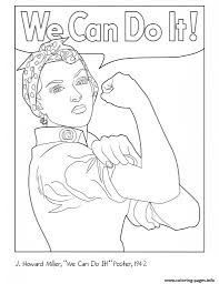 rosie the riveter coloring pages printable