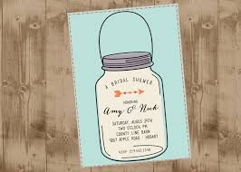 Mason Jar Bridal Shower Invitations Mason Jar Printable Wedding Shower Invitation In Aqua The