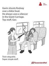 Queensland Rail Meme - queensland rail etiquette posters image gallery know your meme