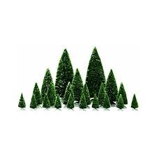 lemax accessory assorted pine trees home
