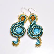 soutache earrings treble clef soutache earrings by piklus on deviantart