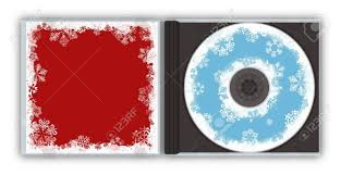 free jewel case template christmas snowflakes cd case template stock photo picture and