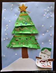 kids christmas tree craft i heart crafty things
