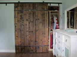 How To Build A Sliding Closet Door Rustic Closet Doors With Rail Closet Ideas