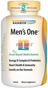 rainbow light vitamins mens rainbow light men s one multi 150 count