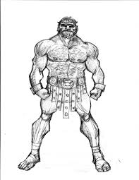 hercules mythology drawing