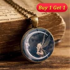 fashion jewelry chain necklace images Photo glass pendant necklace fashion jewelry chain tophatter jpg
