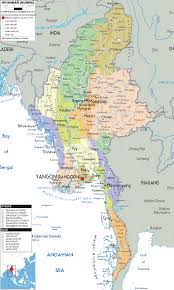 United States Political Map by Myanmar Map