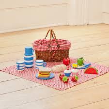 kids picnic basket picnic basket with wooden food jojo maman bebe цветы из фетра