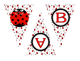 lady bug party pennant banner digital download 3 50 u003d kims
