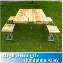 picnic tables folding with seats all in one portable folding outdoor picnic table with 4 seat wooden