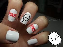 Nail Art Meme - nail art poker face tutorial a photo on flickriver