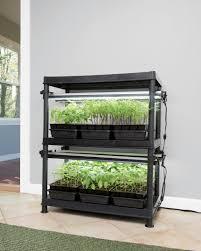 lights of america self ballasted l stack n grow led light system gardener s supply