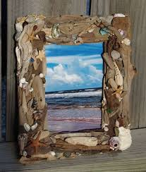 coastal home decor stores coastal home decor driftwood and sea shell picture frame