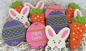 easter cookies one dozen easter cookies scoops cakes groupon