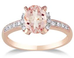 Pink Diamond Wedding Ring by 1 Carat Morganite And Diamond Engagement Ring In Rose Gold