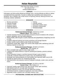 managment resume best restaurant manager resume example livecareer