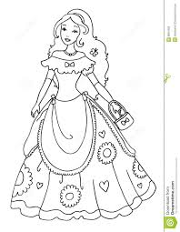 princess coloring page royalty free stock photos image 8801958