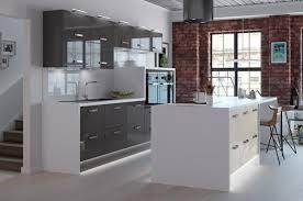 cuisine blanc et grise cuisine cuisine grise moderne facade cuisine anthracite plan de