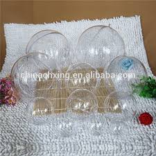 fillable clear plastic 60mm ornament with hanging loop