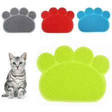Cats Paw Rug Footprint Shape New Cat Litter Mat Pet Toilet Self Clean Rug And