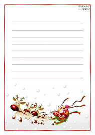 free printable writing paper to santa santa letter paper letter template