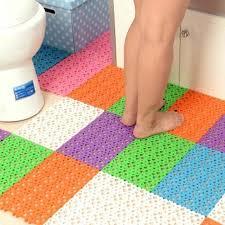 Rug Massage Nonslip Carpet Bath Mat Sucker Bathroom Toilet Floor Mat Plastic
