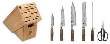 asian kitchen knives shun premier 7 essential knife block set asian knife