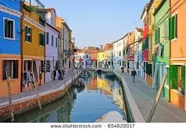 Burano Italy Colorful Houses Burano Venice Italy Stock Photo 524053657