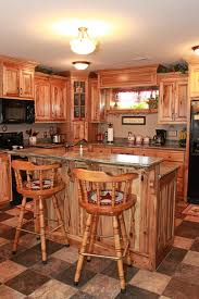 How To Make Kitchen Cabinets Cheap Custom Kitchen Cabinet Rustic Hickory Cabinets The Plus Cheap