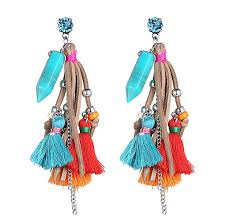earrings online shopping fashion designed bohemian fresh colours earrings for women
