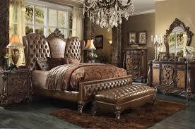 cherry oak bedroom set 6 piece bedroom set in cherry oak finish by acme 21100