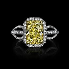 canary engagement ring canary yellow radiant cut 3 10 carats