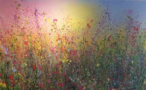 wild flowers in wild meadows glittery flower paintings to inspire and delight by yvonne coomber
