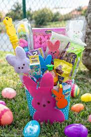 peeps easter basket bunny peeps funfetti sugar cookie eggs at heart