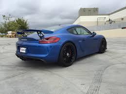 porsche cayman blue porsche cayman gt4 with akrapovic exhaust offers 17 minute 911
